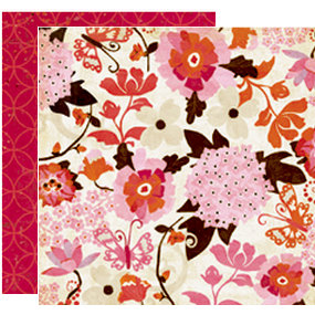 Crate Paper - Pink Plum Collection - 12 x 12 Double Sided Paper - Raspberry