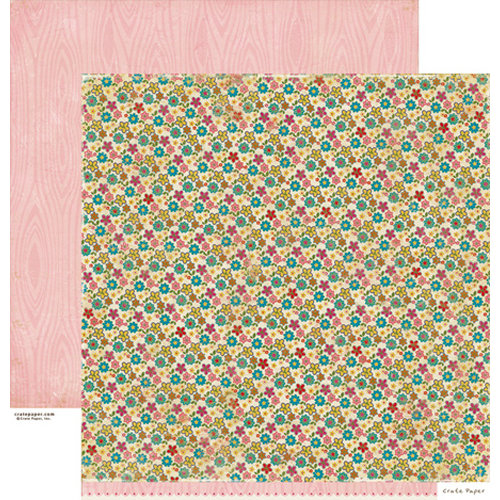 Crate Paper - Random Collection - 12 x 12 Double Sided Paper - Curtains