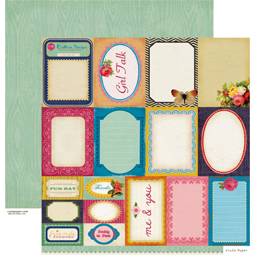 Crate Paper - Random Collection - 12 x 12 Double Sided Paper - Accent Cuts
