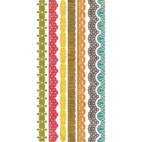 Crate Paper - Restoration Collection - Cardstock Stickers - Borders