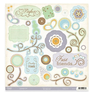 Crate Paper - Sweet Branch Collection - 12x12 Impression Diecut, CLEARANCE