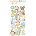 Crate Paper - Sweet Branch Collection - Chipboard Buttons, CLEARANCE