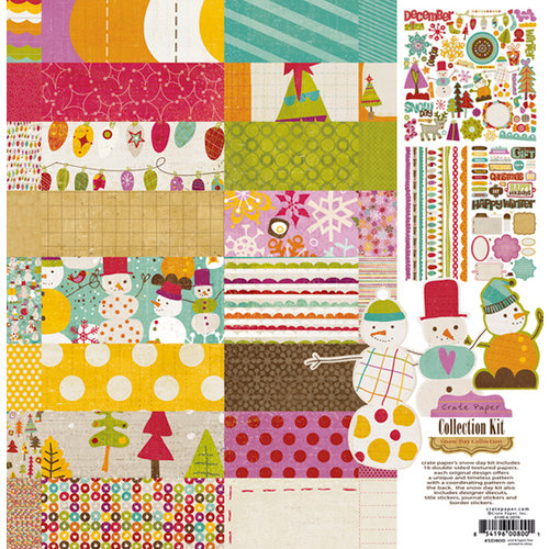 Crate Paper - Snow Day Collection Kit, BRAND NEW - click to enlarge
