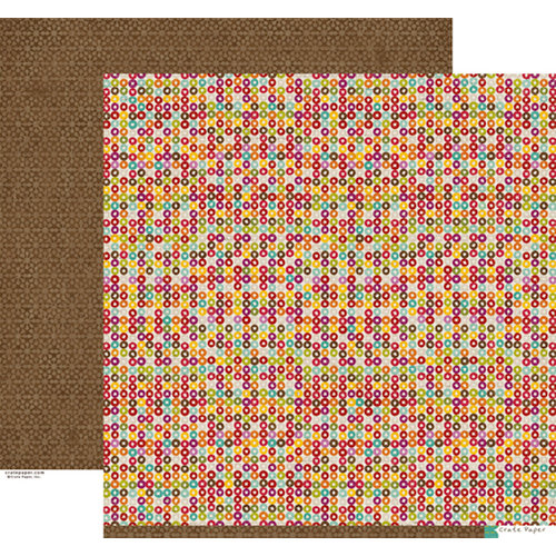 Crate Paper - Snow Day Collection - Christmas - 12 x 12 Double Sided Paper - Candy
