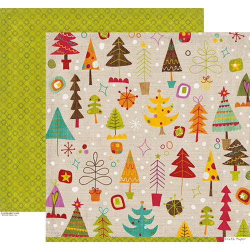 Crate Paper - Snow Day Collection - Christmas - 12 x 12 Double Sided Paper - Festive
