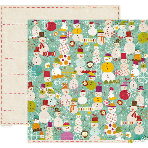 Crate Paper - Snow Day Collection - Christmas - 12 x 12 Double Sided Paper - Frosty