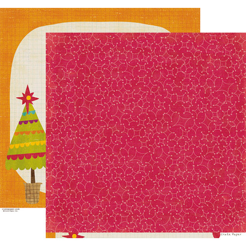 Crate Paper - Snow Day Collection - Christmas - 12 x 12 Double Sided Paper - Blizzard