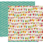 Crate Paper - Snow Day Collection - Christmas - 12 x 12 Double Sided Paper - Sparkle