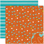Crate Paper - Season Collection - 12 x 12 Double Sided Paper - Love, BRAND NEW