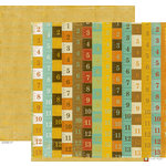 Crate Paper - School Spirit Collection - 12 x 12 Double Sided Paper - Ruler