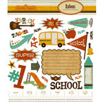 Crate Paper - School Spirit Collection - Rub Ons, CLEARANCE