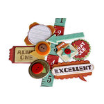 Crate Paper - School Spirit Collection - Layered Chipboard Stickers - Buttons Felt and Rhinestone Accents