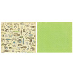 Crate Paper - Static Collection - 12x12 Double Sided Paper - Reaction, CLEARANCE