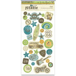 Crate Paper - Static Collection - Chipboard Buttons, CLEARANCE