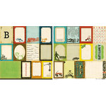 Crate Paper - Toy Box Collection - 12 x 12 Double Sided Paper - Accent Cuts