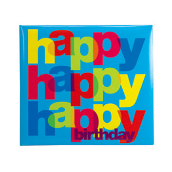 C R Gibson - Tapestry - 12 x 12 Pocket Page Scrapbook - Happy Birthday, CLEARANCE