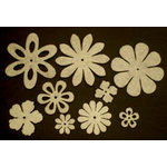 Creative Impressions - Felt Blossoms - White