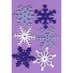 Creative Impressions - Felt Snowflakes - Winter - Medium