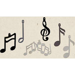 Creative Impressions - Shimmer Shapes - Music Notes