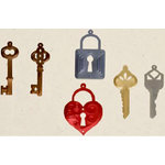 Creative Impressions - Shimmer Shapes - Locks and Keys