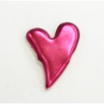Creative Impressions - Brads - Pink Metallic Curved Heart