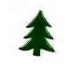 Creative Impressions - Brads - Tree - Dark Green