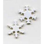 Creative Impressions - Brads - Snowflake - White