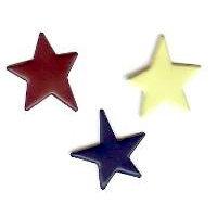 Creative Impressions - Brads - Primitive Star - Americana