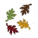 Creative Impressions - Brads - Oak Leaf - Autumn