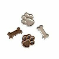 Creative Impressions - Brads - Dog Paw and Bone - Antique