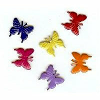 Creative Impressions - Brads - Butterfly - Bright