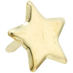 Creative Impressions - Brads - Star - Gold