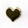 Creative Impressions - Brads - Heart - Gold - Medium