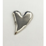 Creative Impressions - Brads - Silver Curved Heart