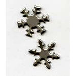 Creative Impressions - Brads - Snowflake - Silver