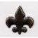 Creative Impressions - Brads - Fleur De Lis - Antique Bronze
