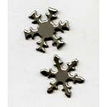 Creative Impressions - Brads - Snowflake - Pewter