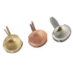 Creative Impressions - Brads - Round - Copper, Gold, Silver - Mini