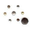 Creative Impressions - Brads - Round - Antique - Micro