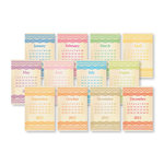 Chic Tags - Delightful Paper Tags - 2012 Lace Calendars - Colored - Set of 12