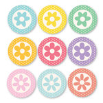 Chic Tags - Delightful Paper Tags - 3D Flower Embellishments - Set of 9
