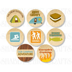 Chic Tags - Delightful Paper Tags - A Camping We Will Go Icons - Set of 8