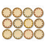 Chic Tags - Delightful Paper Tags - Burlap Scalloped Circles - Set of 12