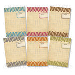 Chic Tags - Delightful Paper Tags - Chevron Artist Trading Cards Journaling Tags - Set of 6