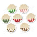 Chic Tags - Delightful Paper Tags - Chevron Journaling Circles - Set of 7