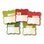 Chic Tags - Delightful Paper Tags - Christmas Artisan Words - Set of 5