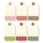 Chic Tags - Delightful Paper Tags - Christmas Chevron Tags - Set of 6