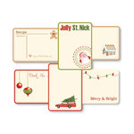 Chic Tags - Delightful Paper Tags - Christmas Traditions Journaling Tags - Set of  6