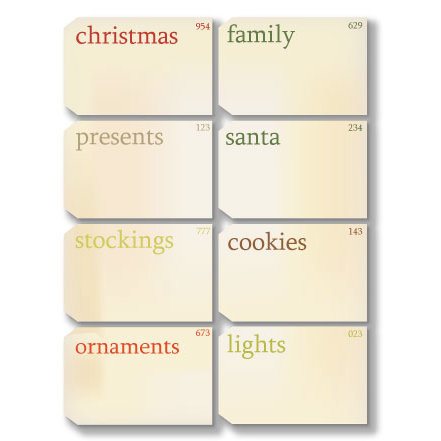 Chic Tags - Delightful Paper Tags - Christmas Vintage Flash Cards - Set of 8