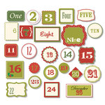 Chic Tags - Delightful Paper Tags - Christmas Vintage Numbers - Set of 25